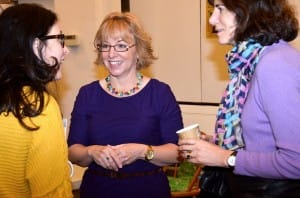 Melanie Davis with members of the Unitarian Church of All Souls, New York, after her talk for the Parenting in the 21st Century Series.